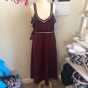 Beautiful Wrap Dress NWT XXL SATIN MAROON
